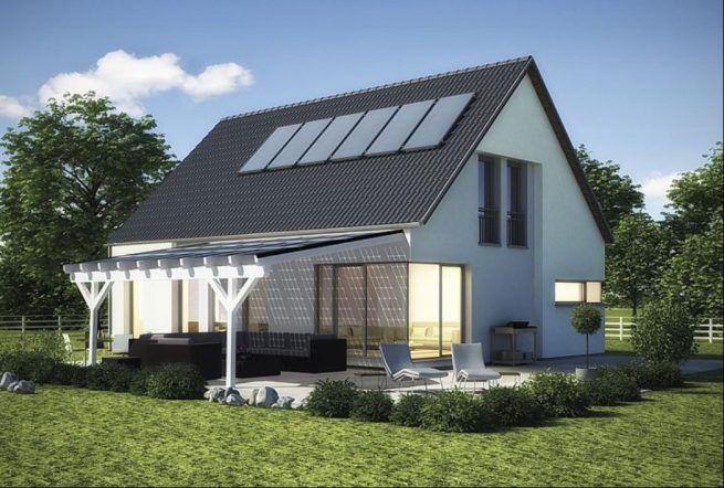 Terrassenüberdachung am Haus