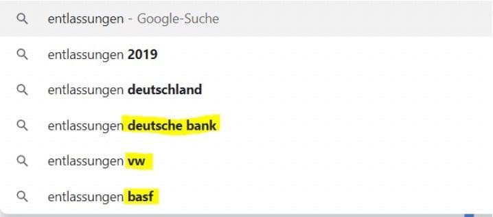 Google Anfragen