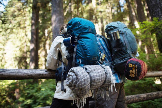Backpacker Urlaub mit Rucksack