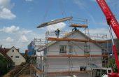 Hausbau eines Einfamilienhauses